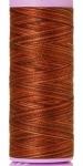Silk-finish 50wt Variegated Cotton Thread 109yd/100m Chocolate