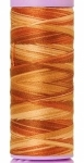 Silk-finish 50wt Variegated Cotton Thread 109yd/100m Iced Coffee