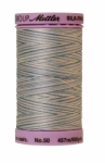 Silk-finish 50wt Variegated Cotton Thread 500yd/457m Tranquil Blue