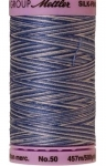 Silk-finish 50wt Variegated Cotton Thread 500yd/457m Clear Sky