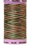 Silk-finish 50wt Variegated Cotton Thread 500yd/457m Seasons Greetings