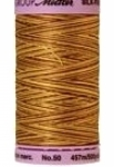 Silk-finish 50wt Variegated Cotton Thread 500yd/457m Choco Banana