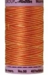 Silk-finish 50wt Variegated Cotton Thread 500yd/457m Orange Ana