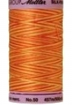 Silk-finish 50wt Variegated Cotton Thread 500yd/457m Rust Ombre