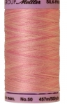 Silk-finish 50wt Variegated Cotton Thread 500yd/457m So Soft Pink