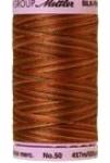 Silk-finish 50wt Variegated Cotton Thread 500yd/457m Chocolate
