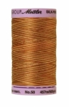 Silk-finish 50wt Variegated Cotton Thread 500yd/457m Iced Coffee