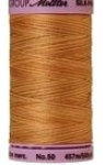 Silk-finish 50wt Variegated Cotton Thread 500yd/457m Bleached Straw