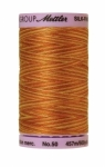 Silk-finish 50wt Variegated Cotton Thread 500yd/457m Lions Mane