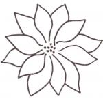 Full Line Poinsettia Stencil H30339