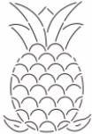 Pineapple Quilt Stencil 112QC