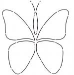 Butterflies Stencil by Edyta Sitar Laundry Basket
