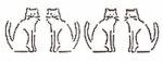 Cat Border Stencil 10418