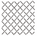Crosshatch Background 12.5 inch Stencil 10184