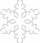 Snowflake 5 inch X 5.5 inch Stencil EL2QC