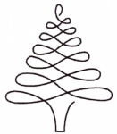 Christmas Tree 4 inch Stencil  895QC