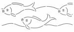 Fish Border 4 inch Quilt Stencil