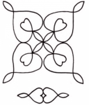 Double Wedding Ring Hearts 8 inch Stencil HOL-001-08