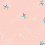 CAMELOT FABRICS - Out of This World - Cinnamon Joe Studio - Shooting Stars - Glow - Blush