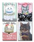 Kitty Cat Themed Pocket Notepad Set