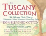 Hobbs -Tuscany, 100% Bleached Cotton Batting THROW