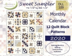 Sweet Sampler Monthly Calendar by Lavender Lime Quilting