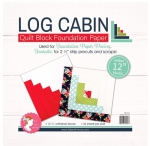 Log Cabin 12 inch Block Foundation Paper Pad by Its Sew Emma