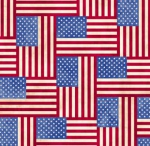 BLANK TEXTILES - Land of the Free - Flags - Blue