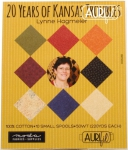 Aurifil 20 Years of Kansas Troubles Stitching Thread Collection 50wt 10 Small Spools