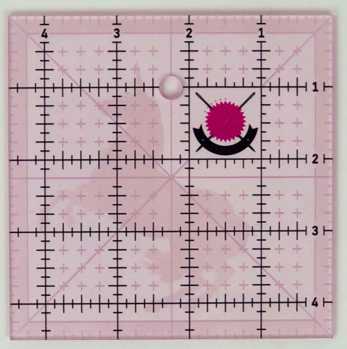 Tula Pink 4.5 Inch Fussy Cut Square Ruler with Unicorn
