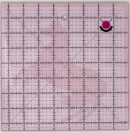 Tula Pink 8.5 Inch Fussy Cut Square Ruler with Unicorn