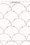 Quilt Pattern On A Roll Clamshells 9.5in x 26ft  #304  by Quilting Made Easy
