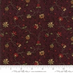 MODA FABRICS - On Meadowlark Pond - Vine Floral Burgundy