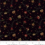 MODA FABRICS - On Meadowlark Pond - Vine Floral Black