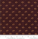 MODA FABRICS - On Meadowlark Pond - Diamond Floral Mahogany