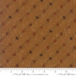MODA FABRICS - On Meadowlark Pond - Floral Stripe Rust