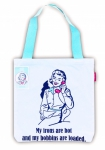 Snarky Women -  Bobbins Loaded Tote Bag by Moda Home