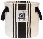 Urban Cottage Canvas Bucket Ivory/Black by Urban Chiks Moda Fun Stuff
