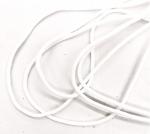 1/16 Inch White Soft Poly Tubular Bungee Elastic 10 yards