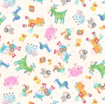 BLANK TEXTILES - Oink, Moo, Cock-A-Doodle Doo! - Animals