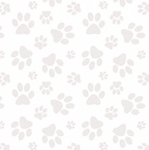 BLANK TEXTILES - Dog Gone Fun - Annie Troe - Paw Print - White on White