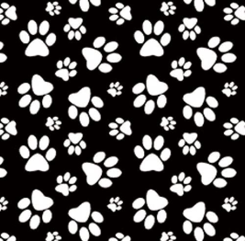 BLANK TEXTILES - Dog Gone Fun - Annie Troe - Paw Print - Black
