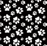 BLANK TEXTILES - Dog Gone Fun - Annie Troe - Paw Print - Black