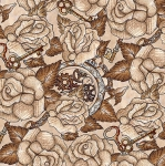 BLANK TEXTILES - Unknown Voyage - Roses Fawn