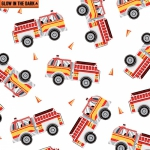 KANVAS - Save The Day - Glow In The Dark - Fire Engines - White