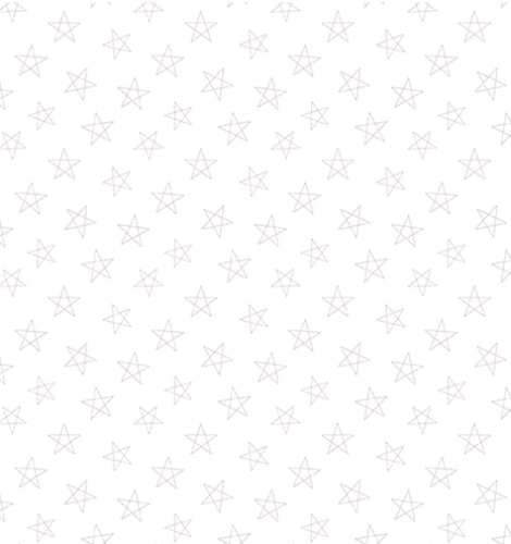 BLANK TEXTILES - Morning Mist IV - Stars - White On White - W128-