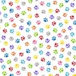 BLANK TEXTILES - Pablo Picatso - Paw Prints White
