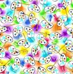 BLANK TEXTILES - Pablo Picatso - Artist Palettes Purple