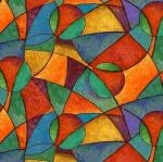 BLANK TEXTILES - Brewed Awakenings - Geometric Blue