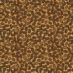 BLANK TEXTILES - Brewed Awakenings - Coffee Beans Brown